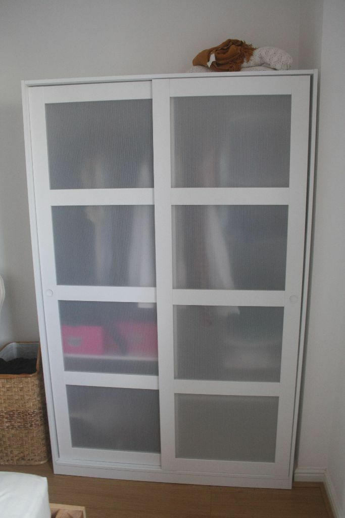 ikea white wardrobe kvikne wardrobe with 2 sliding doors in temple