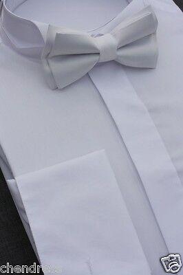 Frackhemd Smokinghemd Herrenhemd Kläppchenkragen 100%  Baumwolle weiss