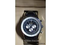 Breitling navitimer luxury automatic aviation flying watch brand new with Swiss box alligator strap