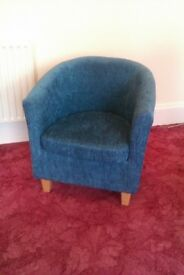 Dunelm Teal Blue Tub Chair - hardly used
