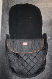 Silver Cross Freeway pram FOOTMUFF Special Edition Country black ---CAN POST----