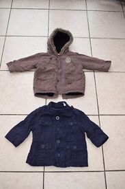 Two boy' coats aged 12-18 mths (reduced price)
