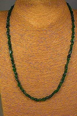 CHROMDIOPSID 58,44ct Kette Collier Classic Edelstein Heilstein Schmuck Halskette