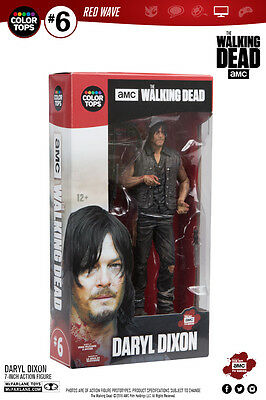 Daryl Dixon The Walking Dead Color Tops #6 Red Wave 18 cm Figur McFarlane