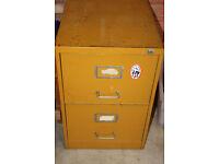 2 drawer sturdy metal filing cabinet garage storage