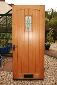 Front Door - Mohogany, Very Heavy, Complete With Hinges and Lock - 852 mm x 2052 mm