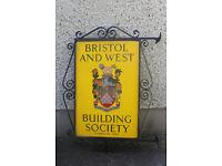 bank/building society original sign