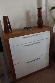 garderobe shoe cabinet and jacket wardrobe set 3- part