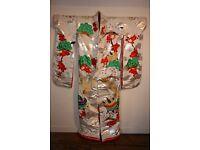 Japanese Silk Kimono - suitable for wall hanging.