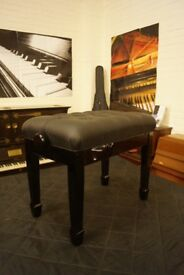 New piano stool with real leather button top concert style and adjustable - Can be posted