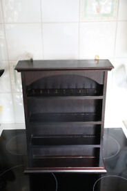 Small wooden display unit