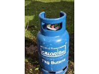 7Kg butane calor gas bottle and regulator.