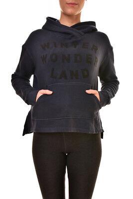 Sundry Women's New Wonderland Hoodie Pullover Sweater Blue S