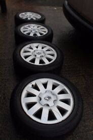 "GENUINE OEM RENAULT 16"" 5X108 ALLOY WHEELS + 205/55/16 TYRES! FORD CITREON PEUGEOT BARGAIN"