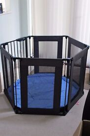 Playpen to keep Baby safe with soft cushion bottom and child lock gate £20