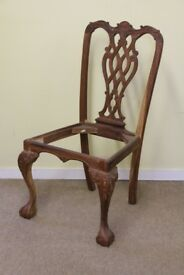 Chair frame for restoration or project