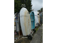 Yacht tender/rowing dinghy with oars, rowlocks ... SOLD subject to viewing