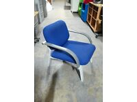 Blue Upholstered Office Lounge Reception Chair