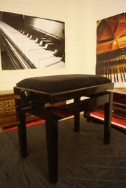 New in box Italian made adjustable piano stool. By Discacciati - Can be posted