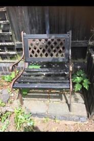 Cast iron. Garden chair & bench