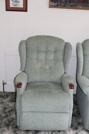 Riser/recliner chair and two matching arm chairs