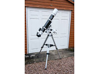 Skywatcher Evostar 120 EQ3-2 Refracting Telescope with 10,25 and 2x barlow lenses collect only Excon