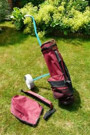 Golf Bag Trolly and clubs