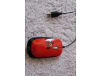Red funky kids' mouse