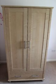Mamas & Papas Modensa Beech Nursery Furniture - Wardrobe and Bookcase - Good Condition