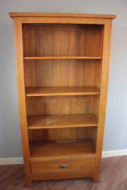 Solid oak dresser / display cabinet / bookshelf