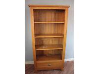 Solid oak dresser / display cabinet / bookshelf