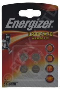 Genuine Energizer A76 LR44 AG13 L1154 V13GA Alkaline Battery 1.5v [4-Pack]