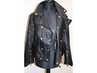 Genuine Burberry real leather ladies backer style jacket size S-M (8-10 UK)