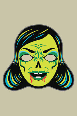 Zombi Lady Vintage Mask Decoration or Halloween Costume Cutout Poster 12x18 inch](Halloween Costume Poster)