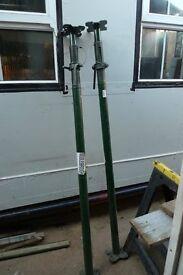 Pair adjustable steel props, size 1