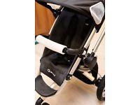Quinny Buzz 3 wheel pushchair stroller pram in grey maxi cosi compatible