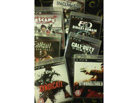 PS3 videgames (see list)