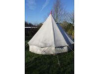 4m Canvas Bell Tent with Wood Burner