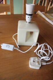 TABLE LAMP MODERN DESIGN WHITE CERAMIC