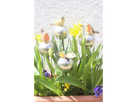 Bird and Butterfly Garden Plant Stakes - New
