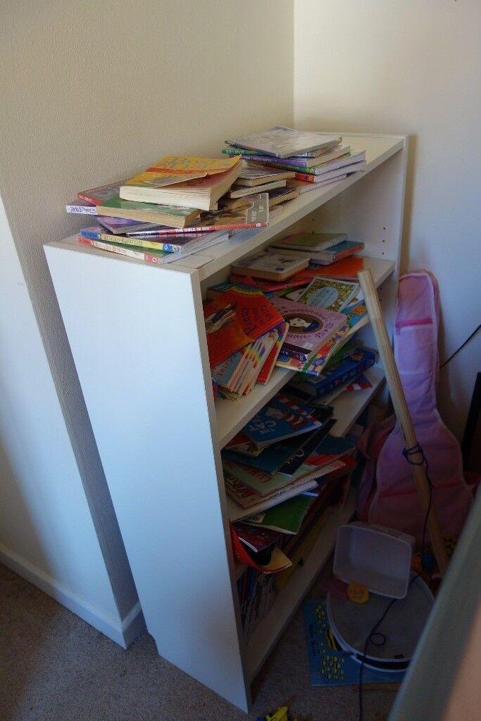 Small White Kids Childrens Bookshelf
