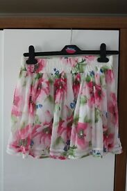 Gilly Hicks Floral Skirt size M