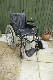 Wheeltech wheelchair with large wheels