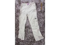 Aloha Technical quick drying Ladies Trousers. Low waist. Zip off at the knees. Size L (Size 12-14).