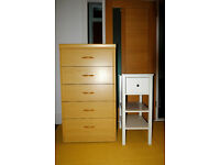 5 DRAWER CHEST with BEDSIDE TABLE