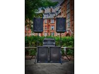 PA Speaker Sound System FOR HIRE - Parties, Weddings, Functions - Plug in ANY / LONDON