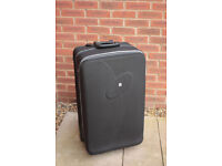 Large black Fiore suitcase