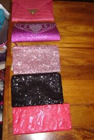 CLUTCH BAGS AND HAND BAGS FOR SALE ONLY £5 EACH!!!!