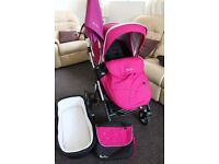 Silver Cross Pioneer carrycot + Pushchair with raincover & changing bag plus umbrella