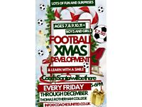 CHRISTMAS FOOTBALL TECHNICAL DEVELOPMENT FUN SPECIAL SESSIONS!